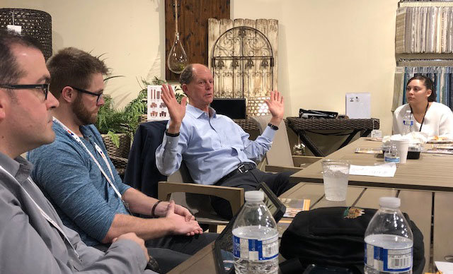 Eric Easter, CEO of Kittle's Furniture, discussed the importance of establishing a positive company culture during HFA's Lunch with Leaders at the Las Vegas Market.