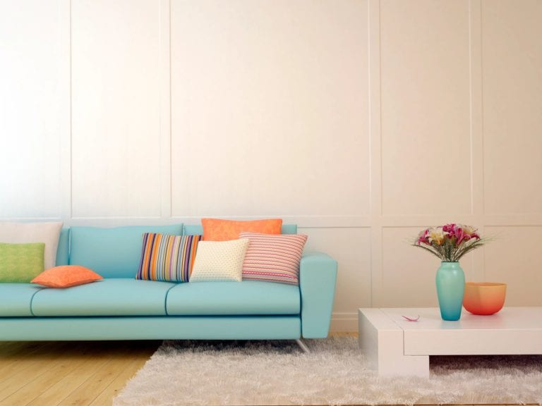 Living Room sofa and end table