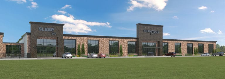 An artist's rendering of the new store opening next year by HFA member Furniture Connections.