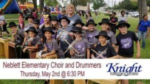 Neblett Choir promotes an event at Knight Furniture