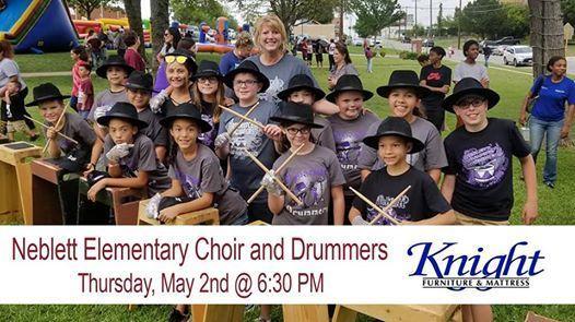 Neblett Choir promotes an event at Knight Furniture
