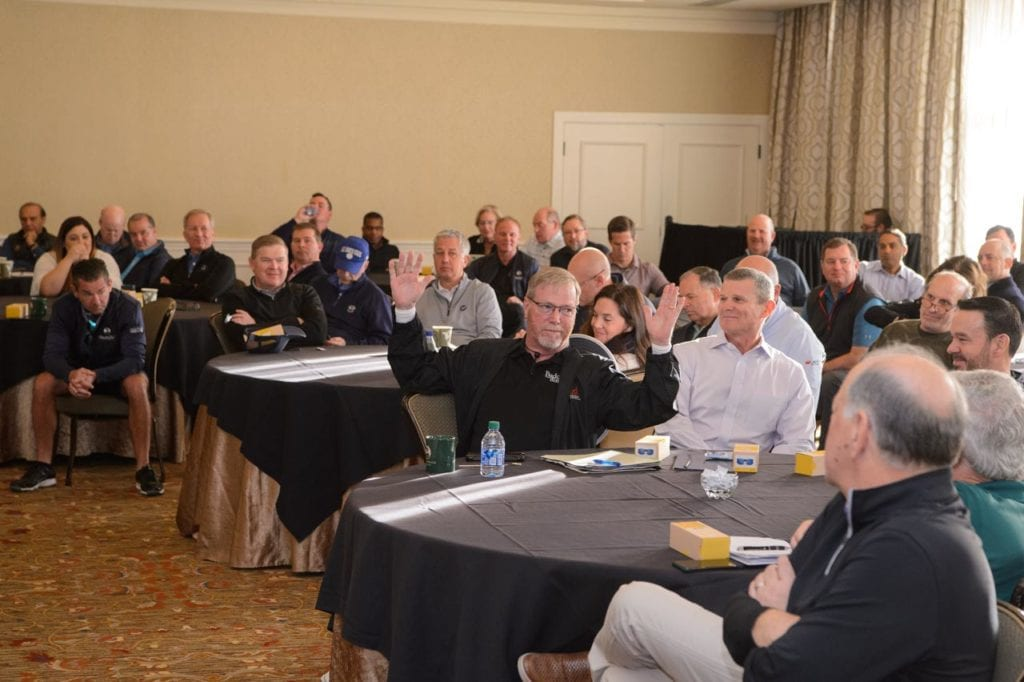 Photo shows participants at CEO Summit