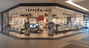 "Tepperman's Furniture opened this ""pop-up store"" to recruit employees."