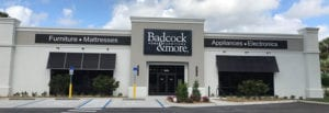Photo shows a Badcock furniture store