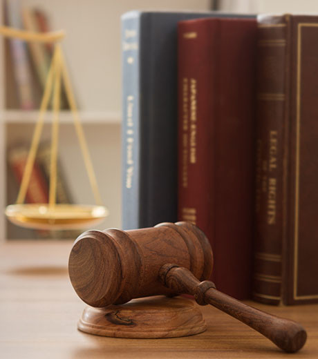 Image of Legal books and gavel
