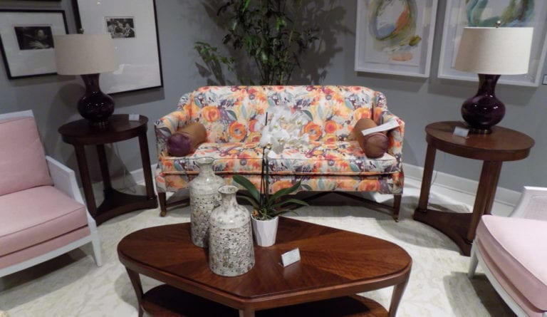 Photo shows a furniture showroom