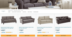 Amazon furniture listed online