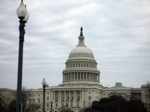 Photo shows the U.S. Capitol building